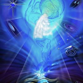 Zodiac sign Aquarius  Happy Birthday 3 by Walter Zettl