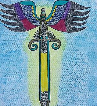 Sword of Archangel Michael by Shaloo Webster