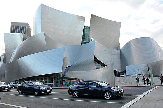 A fisheye view of the Walt Disney Concert Hall in Los Angeles California by Anton Oparin