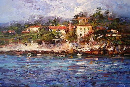 Afternoon light in Cassis by R W Goetting