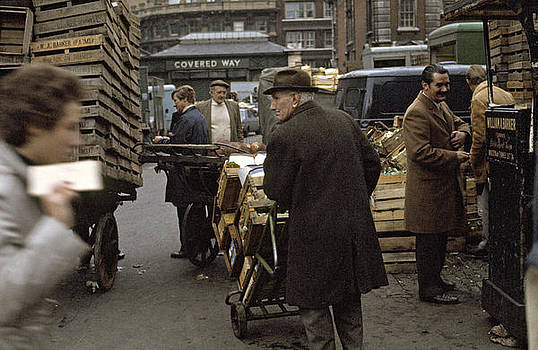 Covent Garden Market London UK 1973 by David Davies
