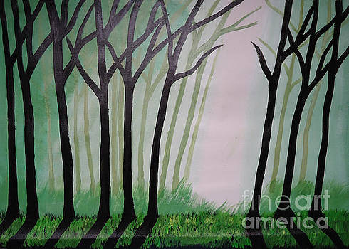 Day Light in Dark forest by Jnana Finearts