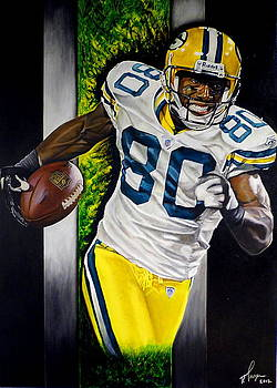 Donald Driver Original Painting by Dan Troyer