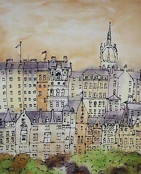 Edinburgh Scotland by Hazel Millington
