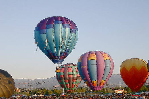 Hot Air Balloons II by Larry Small