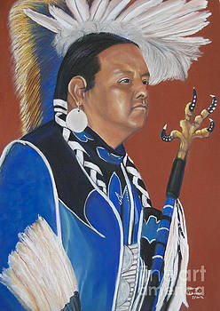 Kel Rainer pow wow dancer by George Chacon