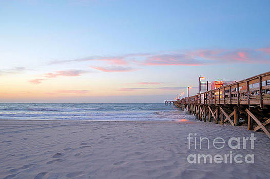 Pier At Dawn  by Dawne Dunton