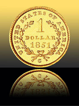 1851 1 Dollar Rare Charlotte Gold by Jim Carrell