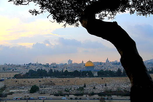 Dome of the Rock from Church of our Lord Weeping by Philip Neelamegam