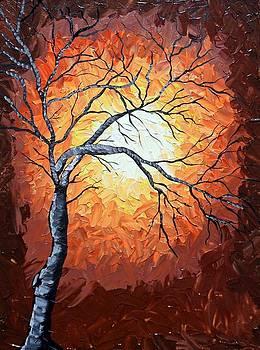 Golden Night Tree by Susan Wahlfeldt