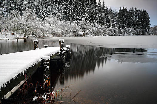 Loch Ard Winter Scene by Grant Glendinning