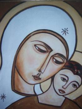 Madonna and child 1 by Michael C Doyle