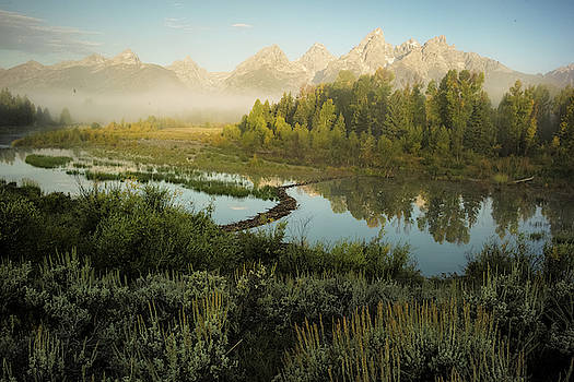 Mountains Reflected At Schwabacher by Charlie James