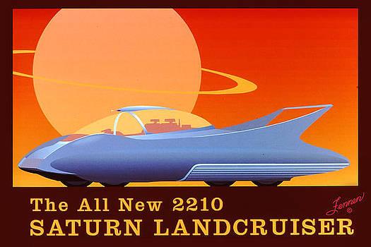2210 Saturn Landcruiser Poster  by Charles Fennen