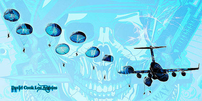DCLA Designed Skull Gruntscape by David Cook  Los Angeles Prints