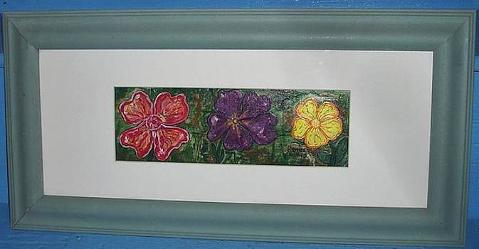 3 Pansies by Darrell Hughes