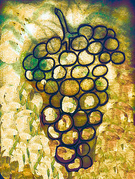 A little bit abstract grapes by Jo Ann