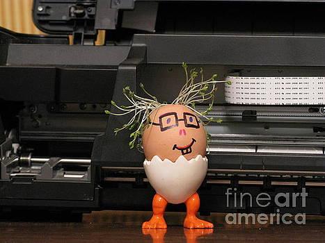 A Master By The Printer. Eggmen series by Ausra Huntington nee Paulauskaite