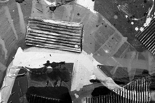 Abstract  19614 cropped II  greyscale by John  Nolan