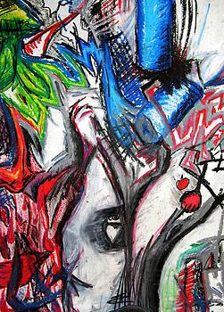 Abstract Apple Heart by Jera Sky
