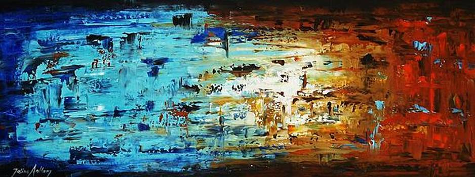 Abstract In Blue And Brown by Jolina Anthony