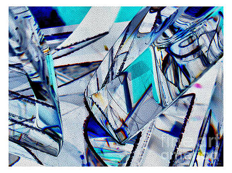 Abstract In Blue And White by Jeff Breiman