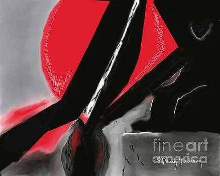 Abstract Red and Black by Dessie Durham