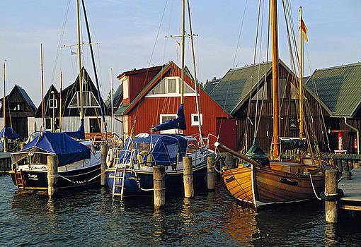 Althagen Harbour Ahrenshoop Germany by David Davies