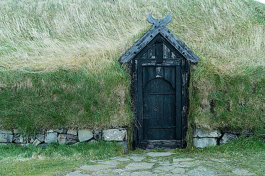 An Old Thatched Roof Viking House by Ira Block