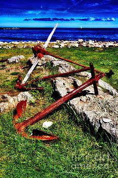 Anchors at Odiorne Park NH by Deena Athans