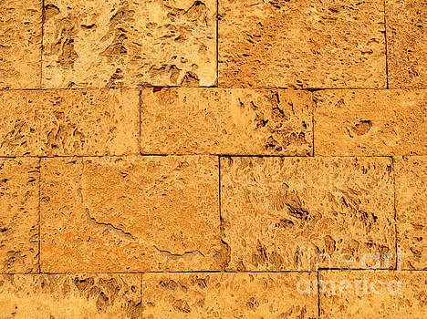 Ancient Stone Blocks Background by Kiril Stanchev