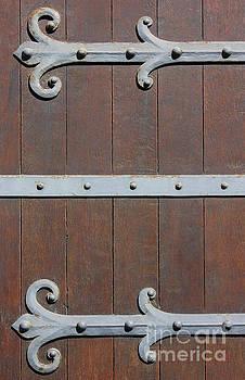 Antique Door with metal Hinges by Kiril Stanchev