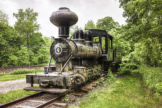 Argent Lumber Company Engine NO. 4 - Antique Steam Locomotive by Gary Heller