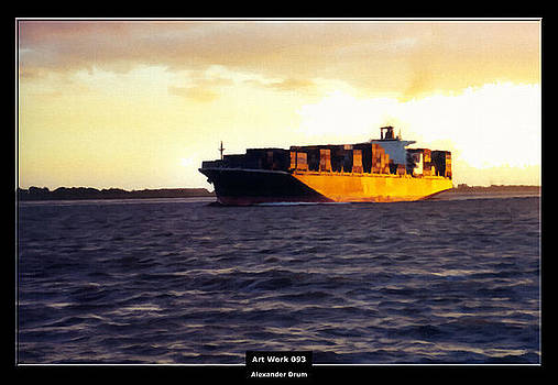 Art Work 093 Container Ship by Alexander Drum