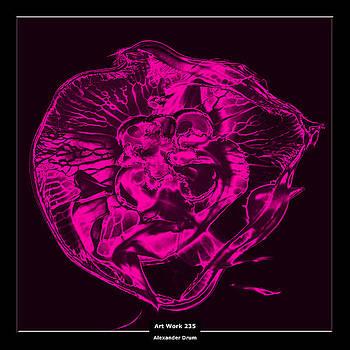 Art Work 235 Jellyfish pink by Alexander Drum