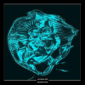 Art Work 236 Jellyfish blue by Alexander Drum