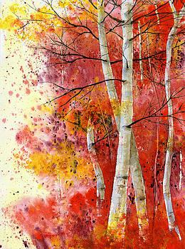 Aspens Ablaze by Penny Johnson