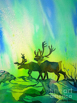 Aurora Caribou by Betsy Bear