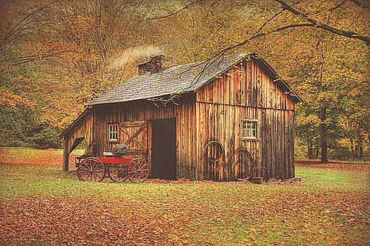 Autumn At Millbrook Village -The Blacksmith Shop by Pat Abbott