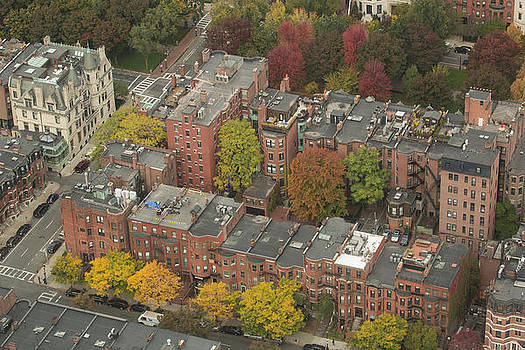 Autumn rooftops of Boston by Gordon  Grimwade