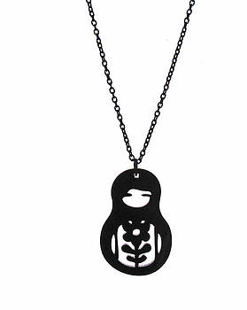 Babushka Pendant Necklace by Rony Bank