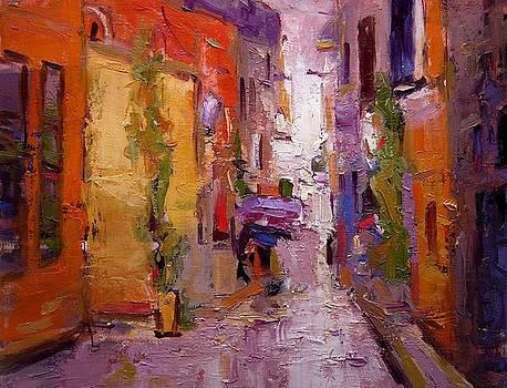 Backstreet in Rovinj by R W Goetting