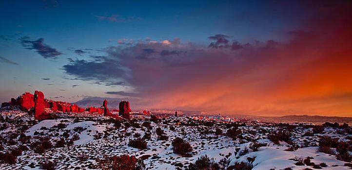 Balanced Rock at Sunset by Craig Brown