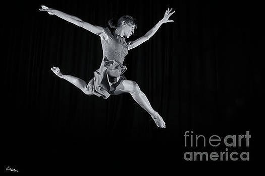 Ballerina Leaping. by T Lang