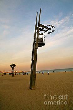 Barcelona beach by Xanat Flores