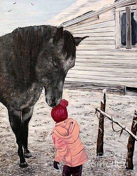 Barnyard kiss by Marilyn  McNish
