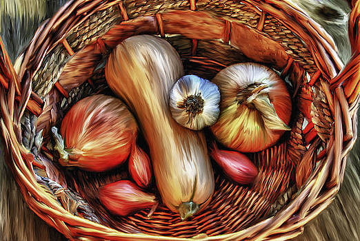 Basket of Vegetables by Sharon Beth