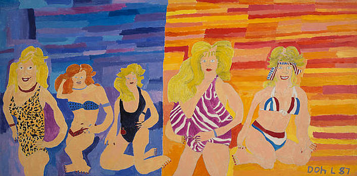 Bathing Beauties  by Don Larison