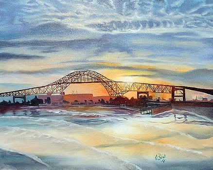 Bay Bridge at Dusk by Jeremy Bird