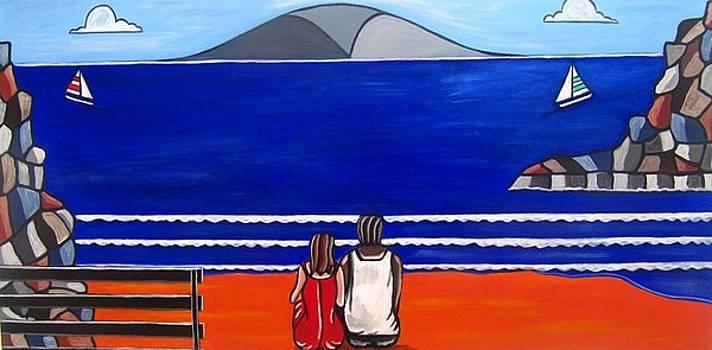 Beach Beach Day Three by Sandra Marie Adams